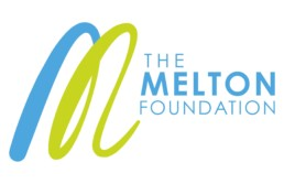 The Melton Foundation Full logo with text. Melton blue and green branding.